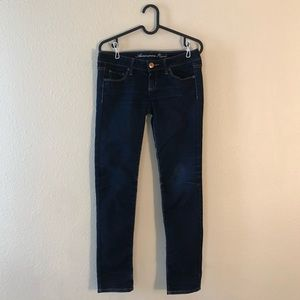 American Eagle stretch skinny blue jeans